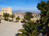 Famous landmark tourist attraction highlight Santa Barbara Castle Castell Alicante Costa Blanca Spain