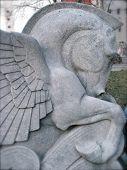 Stone Pegasus Sculpture