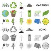 Bio And Ecology Cartoon Icons In Set Collection For Design. An Ecologically Pure Product Vector Symb poster