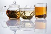 Постер, плакат: Различные виды чая черный зеленый и белый