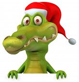 stock photo of santa-claus  - Crocodile - JPG