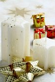 stock photo of x-max  - Christmas still life with  candlelight - JPG