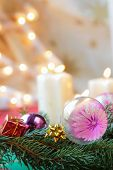 picture of x-max  - Christmas still life with  candlelight - JPG