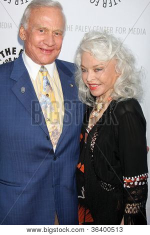 LOS ANGELES - JUN 7:  Buzz Aldrin, Lois Aldrin arrivimg at the Debbie Reynolds Hollywood Memorabilia Collection Auction & Auction Preview at Paley Center For Media on June 7, 2011 in Beverly Hills, CA
