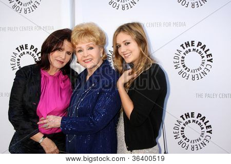 LOS ANGELES - JUN 7:  Carrie Fisher, Debbie Reynolds, Billie Catherine Lourd at the Debbie Reynolds Hollywood Memorabilia Collection Auction at the Paley Center on June 7, 2011 in Beverly Hills, CA