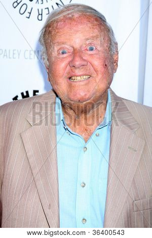 LOS ANGELES - JUN 7:  Dick Van Patten arrivimg at the Debbie Reynolds Hollywood Memorabilia Collection Auction & Auction Preview at Paley Center For Media on June 7, 2011 in Beverly Hills, CA