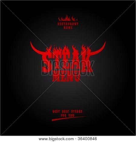 Steak Menu Card Design template.