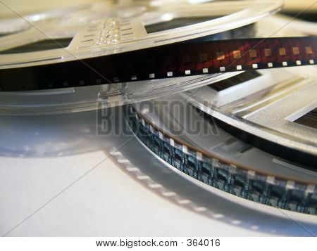 Movie Reels With Film