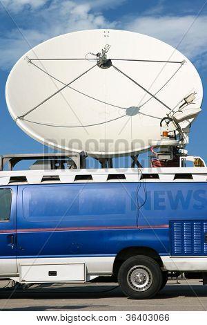 News truck transmits signal
