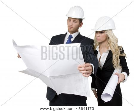 Architects Studying Plan