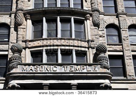Masonic Temple in a historic building in Minneapolis, Minnesota