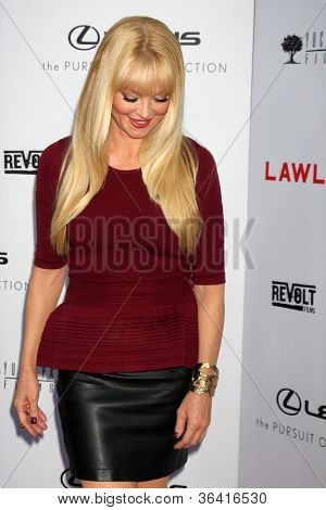"LOS ANGELES - AUG 22:  Charlotte Ross arrives at the ""Lawless"" LA Premiere at ArcLight Theaters on August 22, 2012 in Los Angeles, CA"