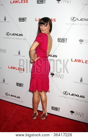 "LOS ANGELES - AUG 22:  Karina Smirnoff arrives at the ""Lawless"" LA Premiere at ArcLight Theaters on August 22, 2012 in Los Angeles, CA"