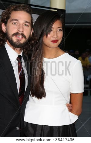 LOS ANGELES - AUG 22:  Shia LaBeouf, Karolyn Pho arrives at the