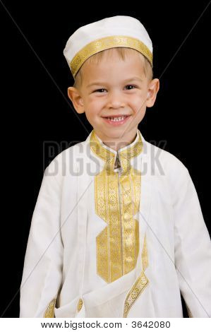 Cute Boy With Traditional Arabian Dress