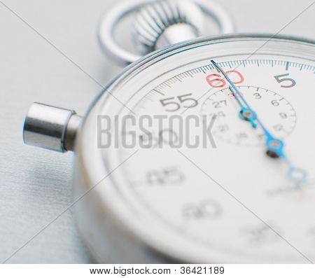 Sport Stopwatch On White Background