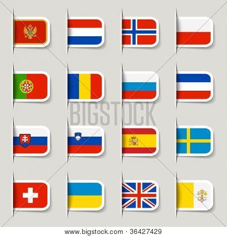 Label - European Flags