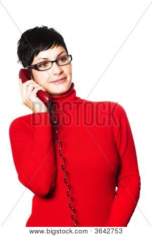 Secretary In Red