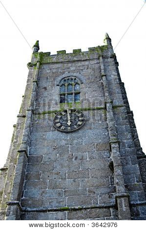 A Clocktower Of A Stone Building