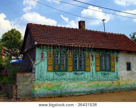 Old Cottage With Elevation Of Angels