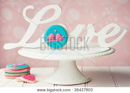 Lovebird cookies