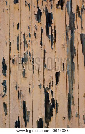 Peeling Painted Timber Wall