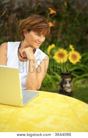 Senior Women With Laptop