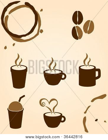 coffee and beverages symbols