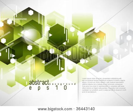 eps10 vector hexagon pattern background