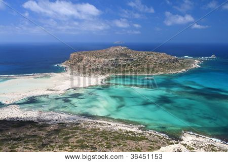 Balos beach at Crete island in Greece