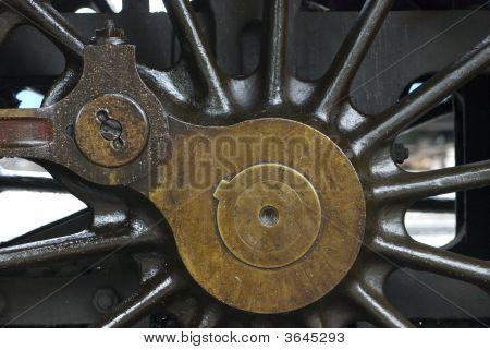 Wheel Detail Of Steam Engine