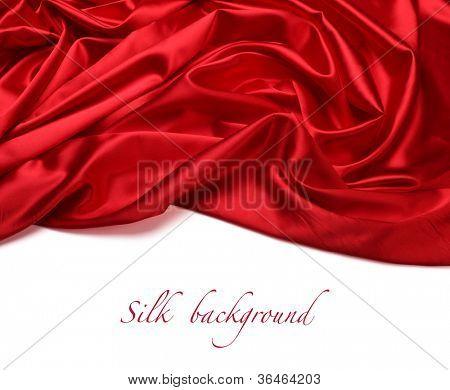 Fondo de tela de seda roja