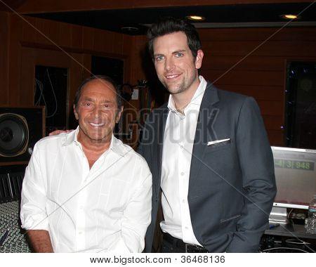 LOS ANGELES - AUG 27:  Paul Anka, Chris Mann at a photo call for Anka for rewriting