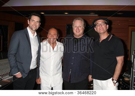 LOS ANGELES - AUG 27:  Paul Anka, Chris Mann at a photo call for Anka for rewriting