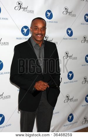 LOS ANGELES - AUG 18:  Rocky Carroll arrives at the 17th Annual Angel Awards at Project Angel Food on August 18, 2012 in Los Angeles, CA
