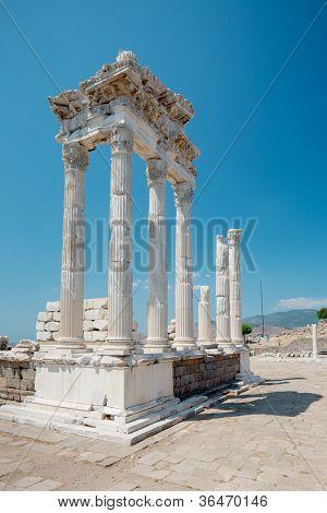 Temple of Trajan at Acropolis of Pergamon in Turkey