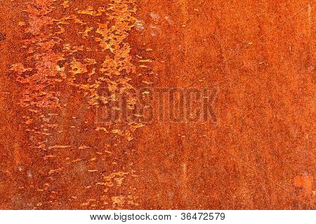Rusty metal surface, may be used as background