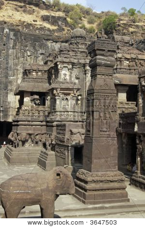 Courtyard Of Ancient Hindu Temple