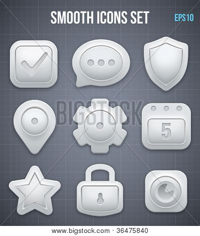 Smooth icons set. Vector