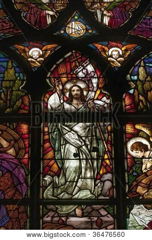 Stained Glass Picturing Jesus Christ