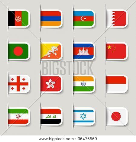Etiqueta - banderas de Asia