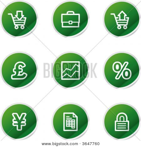 Business Icons, Green Series
