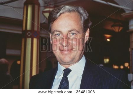BLACKPOOL, ENGLAND - OCTOBER 10: Timothy Yeo, Conservative party Member of Parliament for South Suffolk, attends the party conference on October 10, 1989 at Blackpool, Lancashire.