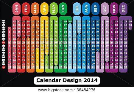 VECTOR - Calendar Design 2014