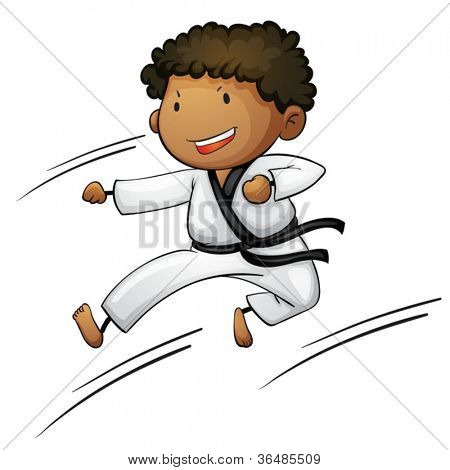 Illustration of a young martial artist