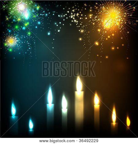 Illuminating candles theme for Diwali or Deepawali festival. EPS 10.