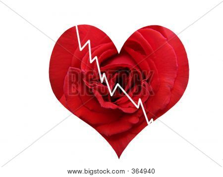 Rose Red Broken Heart