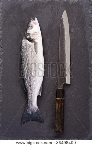 Fish and sujihiki knife