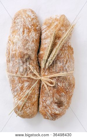 artisan bread isolated