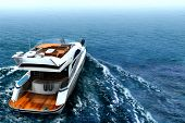 stock photo of life-boat  - Luxury Yacht - JPG